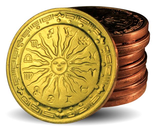 Пример монеты, отчеканенной на универсальном клише