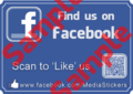 Like Us on Facebook QR Decal