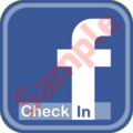 Facebook CheckIN Stickers