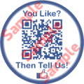 Facebook Like Sticker qith QR code
