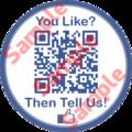 Facebook Like Sticker qith QR code
