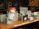 Magnetofonové cívky, krabičky, pásky (18 cm, 15 cm) - většina prodána