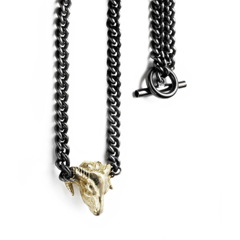 Ram Chunky Chain Necklace with T-Bar