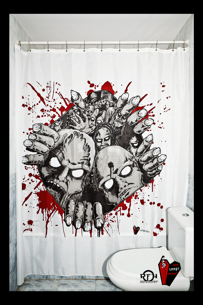 Creepy Shower Curtains Gore