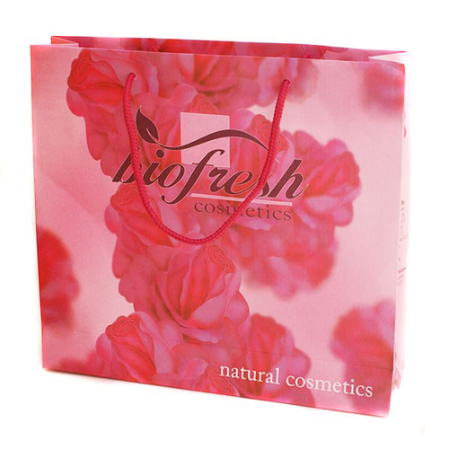 Пакет подарочный 270х240 мм Биофреш (бумажный розовый)