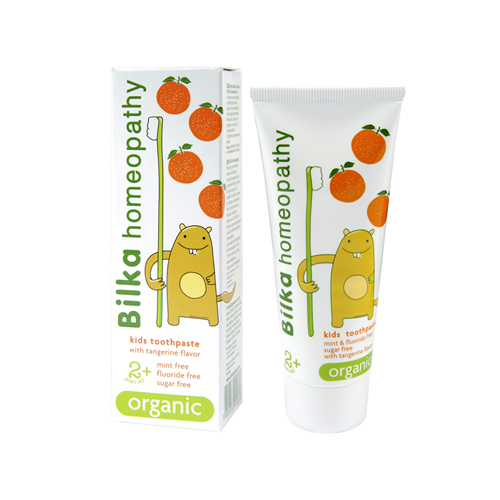 Крем- паста зубная детская homeopathy ORGANIC 2+ со вкусом мандарина Б