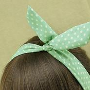 PREORDER Mint Green w/ White Dots Headband
